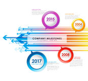 Infographic company milestones timeline vector template Royalty Free Stock Photos