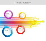 Infographic company milestones timeline vector template Stock Image