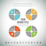 Infographic composito quadrato illustrazione vettoriale