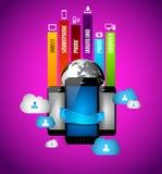 Infographic con concepto computacional de la nube Fotos de archivo libres de regalías
