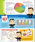 Infographic con l'uomo d'affari Fotografia Stock