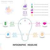 Infographic con la lampadina Immagine Stock