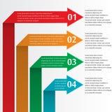 Infographic con las flechas Foto de archivo