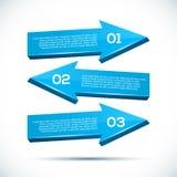 Infographic con las flechas grandes 3D Imagen de archivo libre de regalías
