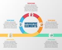 Infographic con los círculos Foto de archivo libre de regalías