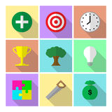 Infographic con los iconos 7 personas altamente eficaces de los hábitos Foto de archivo
