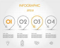 infographic con los indicadores Imagenes de archivo