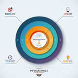 Infographic concentric diagram template with 4 options Stock Photography