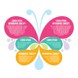 Infographic Concept - Abstract Background - Creative Vector Illustration of Butterfly Silhouette Royalty Free Stock Photo