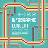 Infographic Concept Background. In vector format for design presentations, brochures, advertising layout, infographics and other designer products Stock Photography