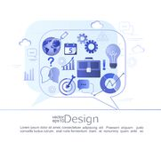Infographic concept of business consulting. Creative infographic concept of business consulting. Various signs and symbols characterizing the course of a Stock Images