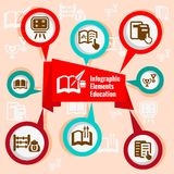 Infographic concept education royalty free illustration