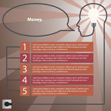 Infographic concept. Human head with the idea - light bulb Stock Images