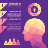 Infographic Concept with Human Head. Infographic concept for various design projects Stock Photo