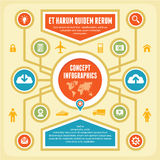Infographic Concept. Infographics concept with icons for your presentation and other works Stock Images