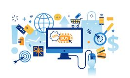 Infographic concept of online business Royalty Free Stock Photography
