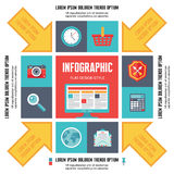 Infographic Concept for Presentation in Flat Design Style Royalty Free Stock Image