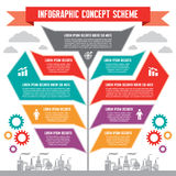 Infographic Concept for Presentation Stock Images