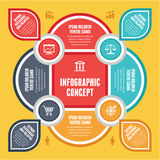 Infographic Concept for Presentation - Vector Scheme with Icons Royalty Free Stock Photo