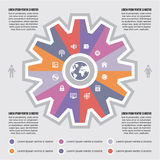 Infographic Concept for Presentaton - internet vector scheme with icons Stock Photo