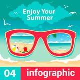 Infographic concept summer Stock Photography
