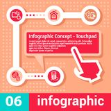 Infographic concept touchpad Royalty Free Stock Photos