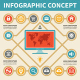 Infographic Concept - Vector Scheme with Icons. Infographics concept with icons for your presentation and other works Stock Photography