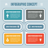Infographic Concept - Vector Scheme with Icons. Infographics concept with icons for your presentation and other works Royalty Free Stock Photo
