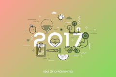 Infographic concept 2017 year of opportunities Royalty Free Stock Image