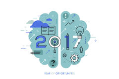 Infographic concept 2017 year of opportunities Stock Image