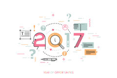 Infographic concept 2017 year of opportunities Stock Images