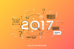 Infographic concept 2017 year of opportunities Royalty Free Stock Photos