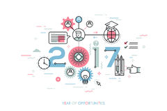 Infographic concept 2017 year of opportunities Royalty Free Stock Images