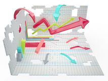 Infographic conception, 3D Stock Image