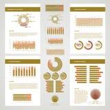 Infographic Conceptuele Elementen Stock Fotografie