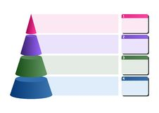 Infographic cone - cdr format Stock Photo
