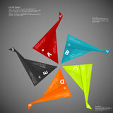 Infographic consists of five folded paper pieces on dark Royalty Free Stock Photography
