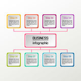 Infographic cuadrado del vector Diagramas, presentaciones y cartas del negocio Fondo Foto de archivo