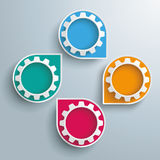 Infographic Cycling Dropmarkers Gears. Infographic design white markers and gears on the gray background Royalty Free Stock Photography