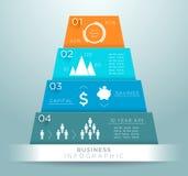 Infographic 3d金字塔数字设计A 免版税库存图片