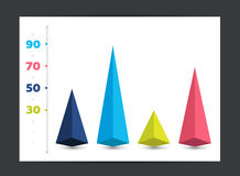 Infographic 3D arrow diagram chart, graph. Royalty Free Stock Image