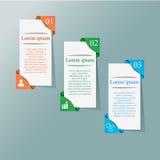 infographic 3d de papel Foto de Stock