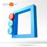 Infographic 3D frame with numbered options Royalty Free Stock Photography