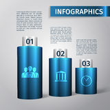 Infographic 3d template Stock Photography