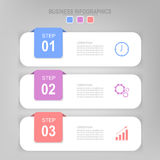 Infographic da etapa, projeto liso do vetor do ícone do negócio Fotografia de Stock