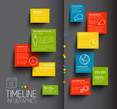 Infographic dark timeline report template Stock Photos