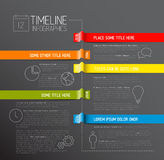 Infographic dark timeline report template Stock Photo