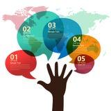 Infographic Darstellung der Kommunikation Stockfoto