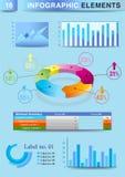 INFOGRAPHIC Darstellungsschablonen-Diagrammtorte Lizenzfreie Stockfotos