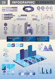 INFOGRAPHIC Darstellungsschablonen-Diagrammtorte Stockfotos